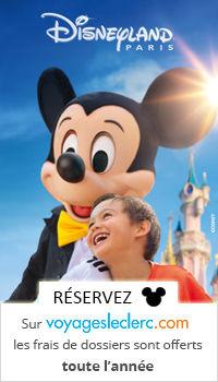 Réservez votre séjour en promo à Disneyland Paris avec Leclerc Voyages