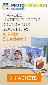 Tirages, livres photos et cadeaux souvenirs à prix E.Leclerc