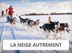 Profitez de la neige autrement : chien de traineaux, scooter des neiges, raquettes, promenades en rennes