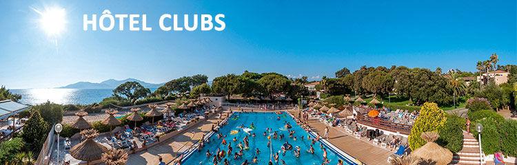 Vacances en Corse en Hôtel Clubs