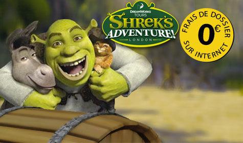 Sejour et week-end au parc Shrek's Adventure! à Londres