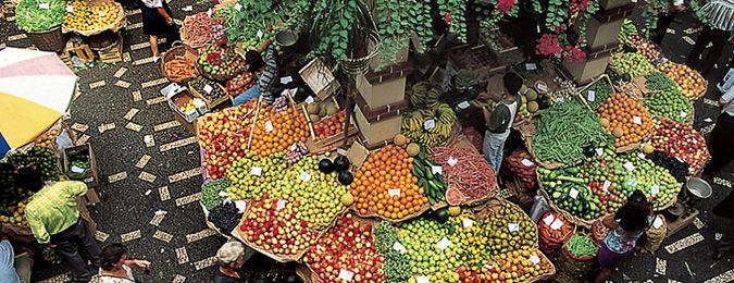 Marché de Funchal, fleurs et fruits