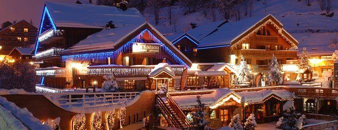 Le village de Méribel en hiver