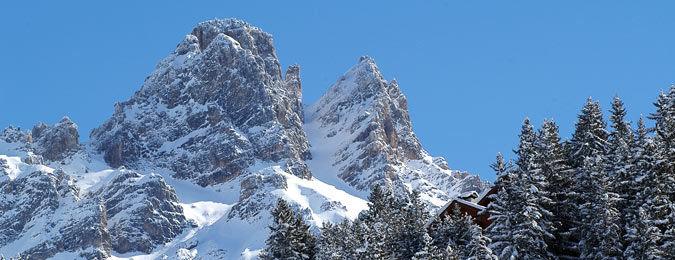 Les Alpes depuis la station de Méribel en Savoie