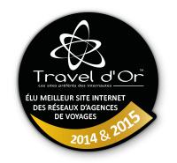 Travel d'Or 2014 2015 - meilleur site de reseau d'agence de voyages