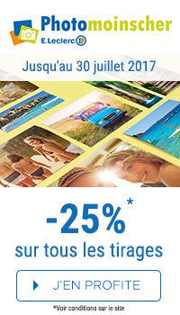 -25% sur vos tirages photos !